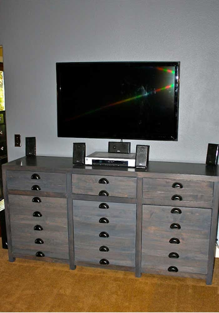 Brilliant Well Known TV Stands And Computer Desk Combo Inside 50 Creative Diy Tv Stand Ideas For Your Room Interior Diy (View 28 of 50)