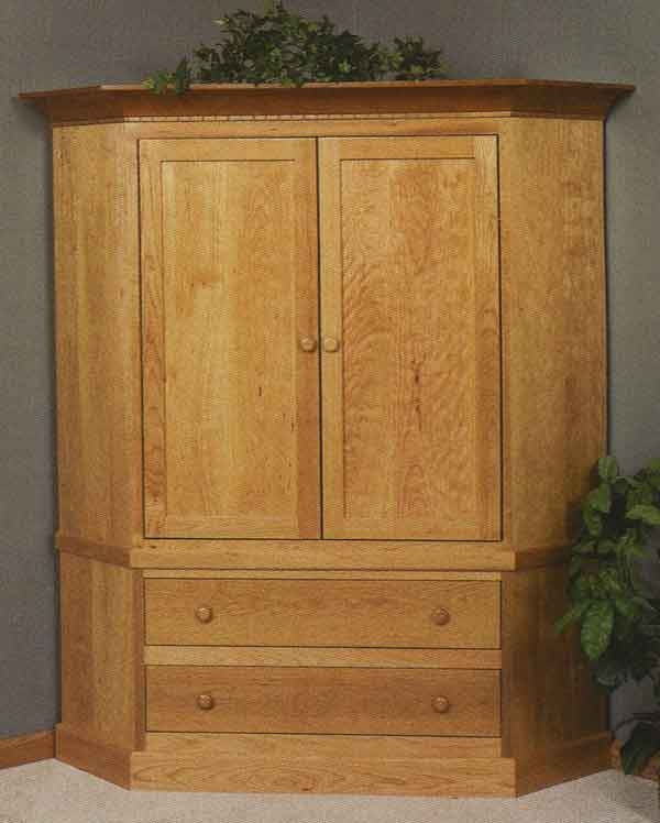 Brilliant Well Known TV Stands Cabinets Regarding Living Room Brilliant Corner Tv Stands Cabinets Clear Creek Amish (View 50 of 50)