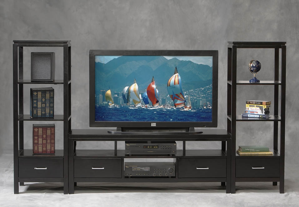 Brilliant Wellknown TV Stands For Plasma TV For Linon Sutton Plasma Tv Stand 84026blk 01 Kd U (Image 11 of 50)