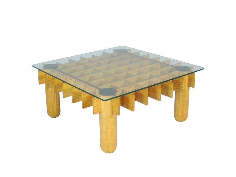Brilliant Well Known Vintage Glass Coffee Tables Pertaining To Vintage Beech And Glass Coffee Table 1970s For Sale At Pamono (View 48 of 50)
