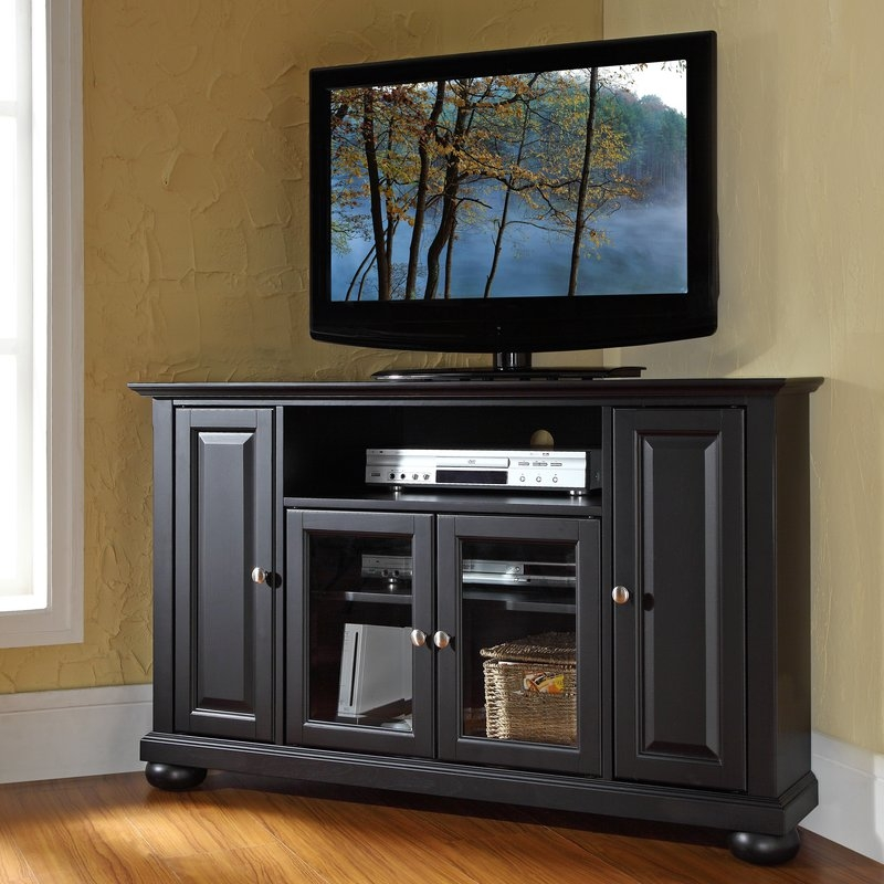 Brilliant Well Known Wayfair Corner TV Stands With Alcott Hill Gambrell Corner 48 Tv Stand Reviews Wayfair (View 29 of 50)