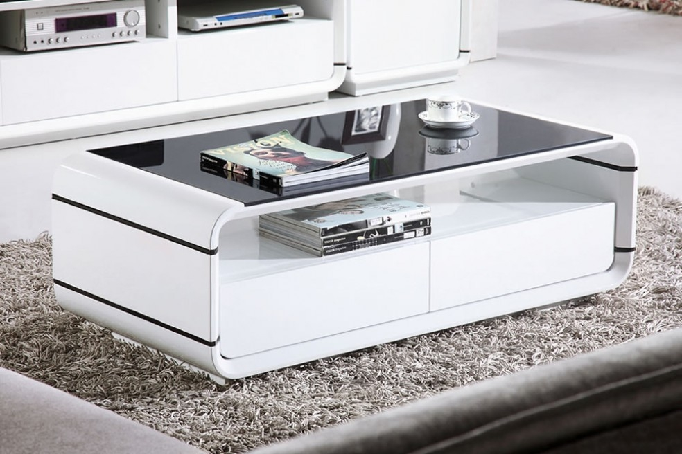 Brilliant Wellknown White Gloss Coffee Tables Pertaining To White Coffee Tables (Image 11 of 50)