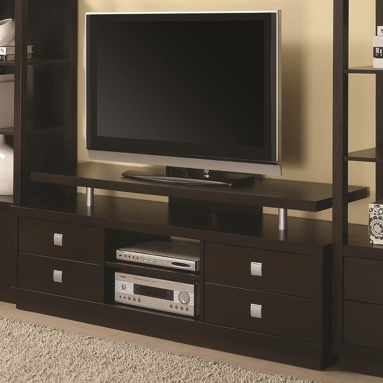 Brilliant Well Known Wooden TV Stands Within Brown Wood Tv Stand Steal A Sofa Furniture Outlet Los Angeles Ca (Image 12 of 50)