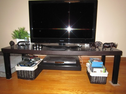 Brilliant Wellliked Bench TV Stands With Regard To Tv Stand With Floating Dvd Platform Ikea Hackers Ikea Hackers (Image 11 of 50)