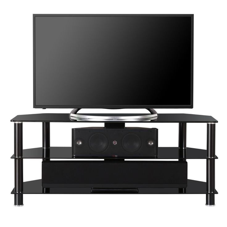 Brilliant Wellliked Black TV Stands With Glass Doors With Best 25 50 Inch Tv Stand Ideas On Pinterest 60 Inch Tv Stand (Image 11 of 50)