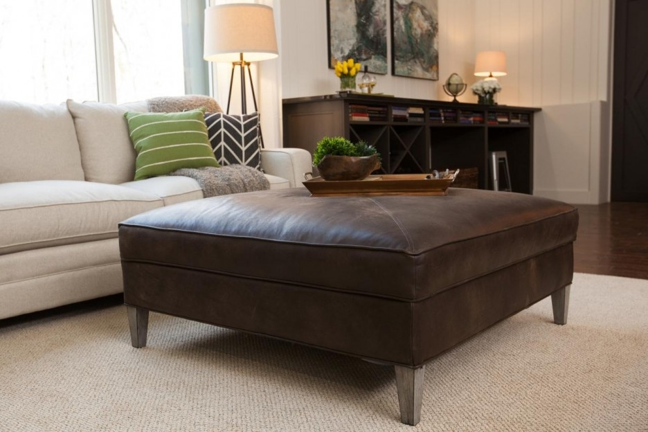 Brilliant Wellliked Brown Leather Ottoman Coffee Tables With Living Room Wonderful Ottoman Coffee Table Storage Design Ideas (View 46 of 50)