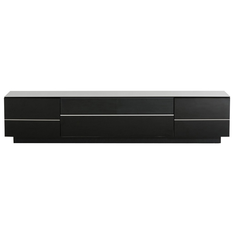 Brilliant Wellliked Contemporary Black TV Stands Within Buy The Modrest Caeden Contemporary Black High Gloss Tv Stand (View 5 of 50)