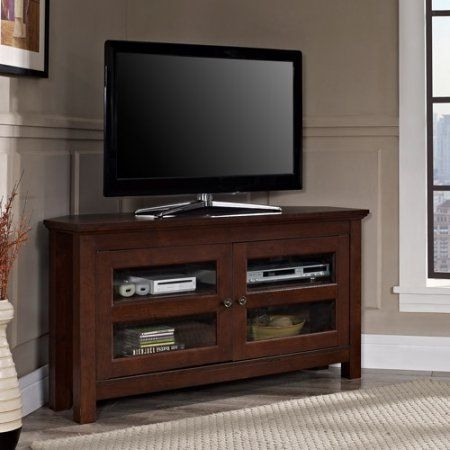 Brilliant Wellliked Corner 55 Inch TV Stands For Best 25 Black Corner Tv Stand Ideas On Pinterest Small Corner (Image 12 of 50)
