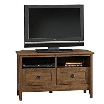 Brilliant Wellliked Corner Oak TV Cabinets Regarding Amazon Corner Tv Stand Oak Entertainment Center Furniture (Image 13 of 50)