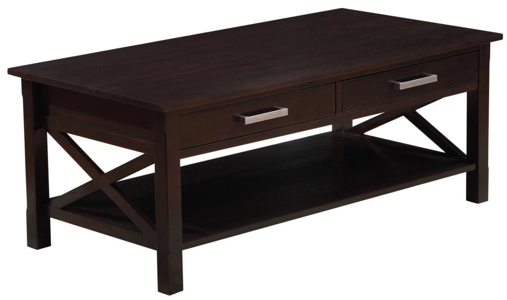 Brilliant Wellliked Dark Brown Coffee Tables Intended For Tiered Coffee Table Dark Walnut Contemporary Coffee Tables Dark (Image 11 of 50)