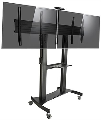 Brilliant Wellliked Dual TV Stands Inside Dual Screen Tv Stand Vesa Compliant (Image 14 of 50)