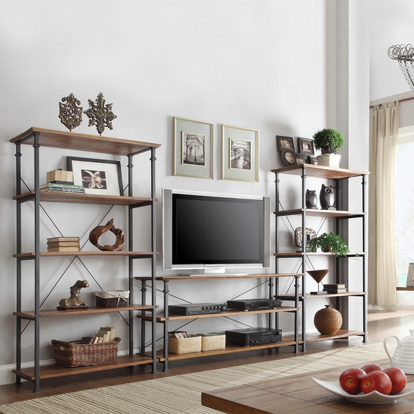 Brilliant Wellliked Emerson TV Stands Regarding Tv Stand With Bookshelves Idi Design (View 16 of 50)
