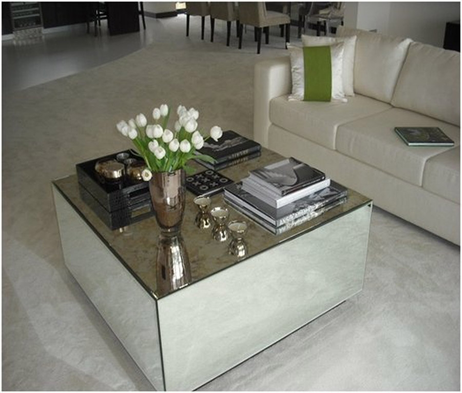 Brilliant Wellliked Mirrored Coffee Tables In Mirrored Coffee Table Set (Image 11 of 50)