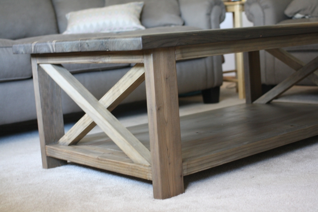 Brilliant Wellliked Oak Coffee Table With Shelf Regarding Coffee Table Elegant Rustic Square Coffee Table Design Ideas (Image 9 of 50)