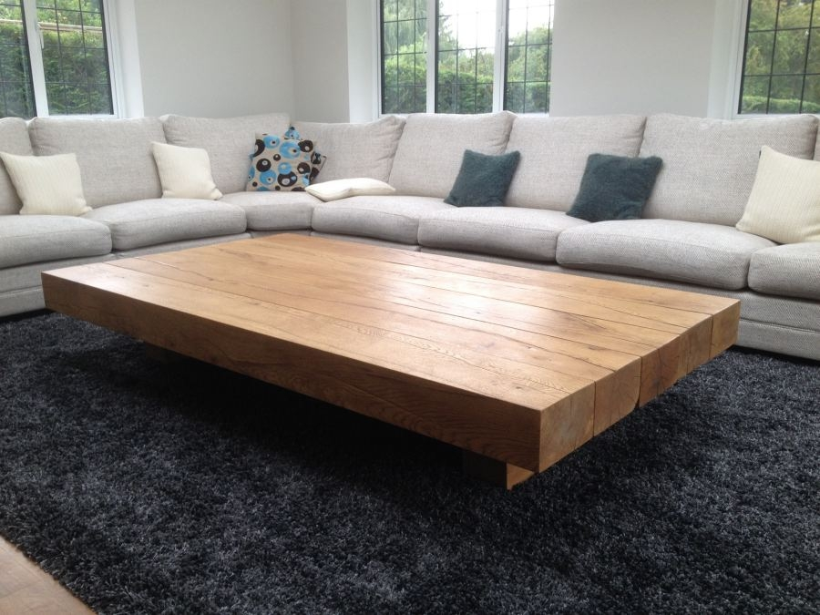Brilliant Wellliked Oversized Square Coffee Tables Pertaining To Oversized Coffee Tables (Photo 14 of 50)
