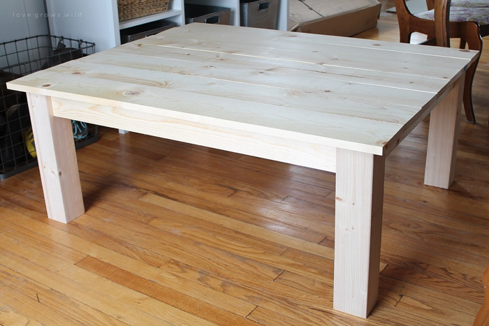 Brilliant Wellliked Rustic Wood DIY Coffee Tables For Diy Farmhouse Coffee Table Love Grows Wild (Image 15 of 50)