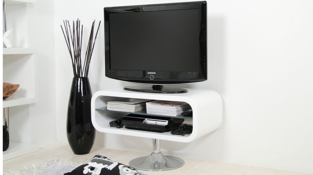 Brilliant Wellliked Single Shelf TV Stands Inside Tv Stands 10 Favorite Modern Universal Pedestal Tv Stand Gallery (View 43 of 50)