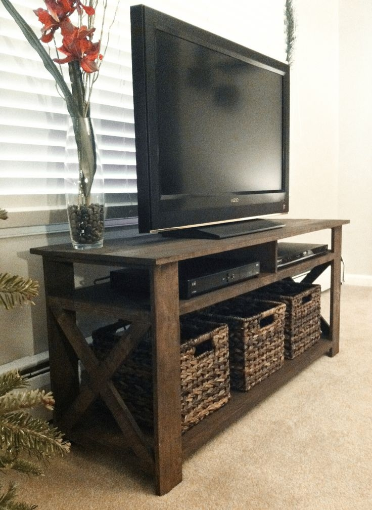 Brilliant Wellliked Solid Wood Black TV Stands Intended For Best 25 Diy Tv Stand Ideas On Pinterest Restoring Furniture (Image 16 of 50)