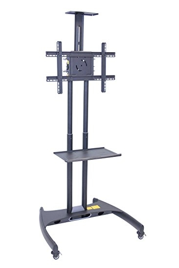Brilliant Widely Used 61 Inch TV Stands Pertaining To Amazon H Wilson Height Adjustable Moving Flat 32 60 Inch (View 34 of 50)