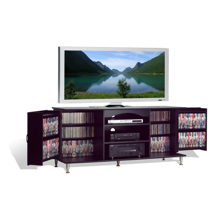 Brilliant Widely Used Big TV Stands Furniture Inside Furniture Large Media Console With Storage Folding Door And Media (Image 11 of 50)