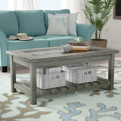 Brilliant Widely Used Coffee Tables With Magazine Rack With Beachcrest Home Briarwood Coffee Table With Magazine Rack (Image 9 of 50)