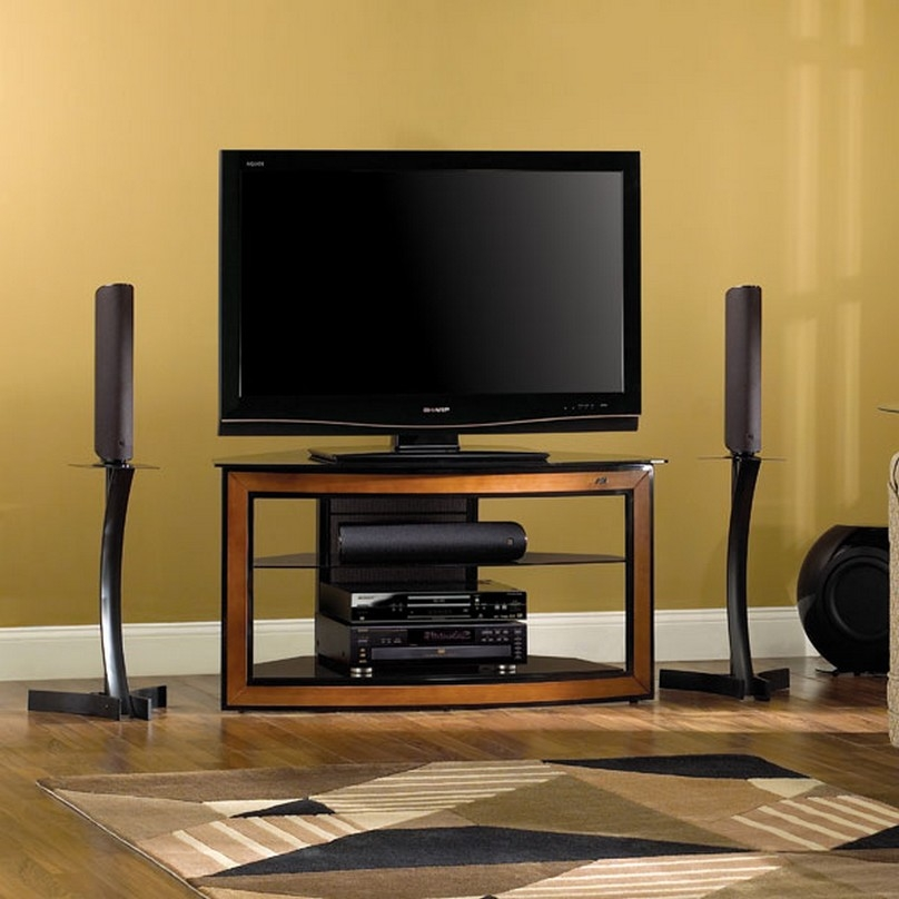 Brilliant Widely Used Contemporary Corner TV Stands Regarding Tv Stands Elegant Black Corner Tv Stand For 55 Inch Tv Ideas  (Image 13 of 50)