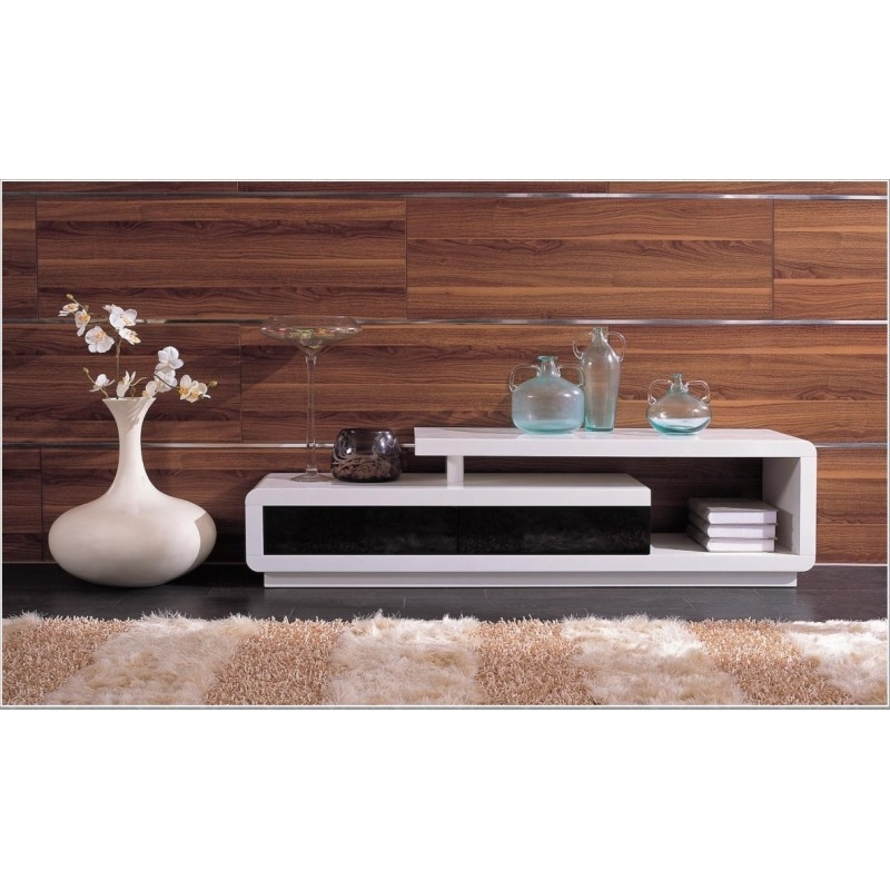 Brilliant Widely Used Contemporary TV Stands Within Modern White Lacquer Tv Stand Ugalleryfurniture (Image 17 of 50)