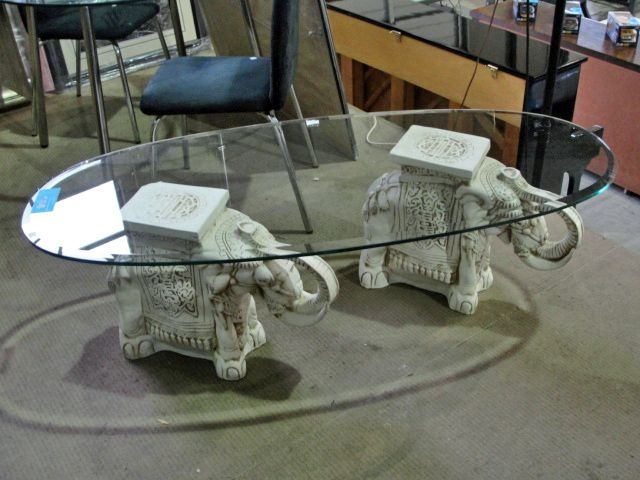 Brilliant Widely Used Elephant Glass Top Coffee Tables Inside Elephant Coffee Table (Image 10 of 50)