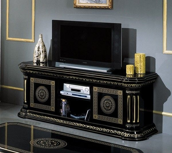 Brilliant Widely Used Gold TV Cabinets Pertaining To Best 25 Black Tv Unit Ideas On Pinterest Ikea Tv Table (Image 15 of 50)