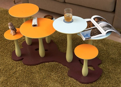 Brilliant Widely Used Kids Coffee Tables With Regard To Modern Dna Mushroom Forest Coffee Table (Image 18 of 50)