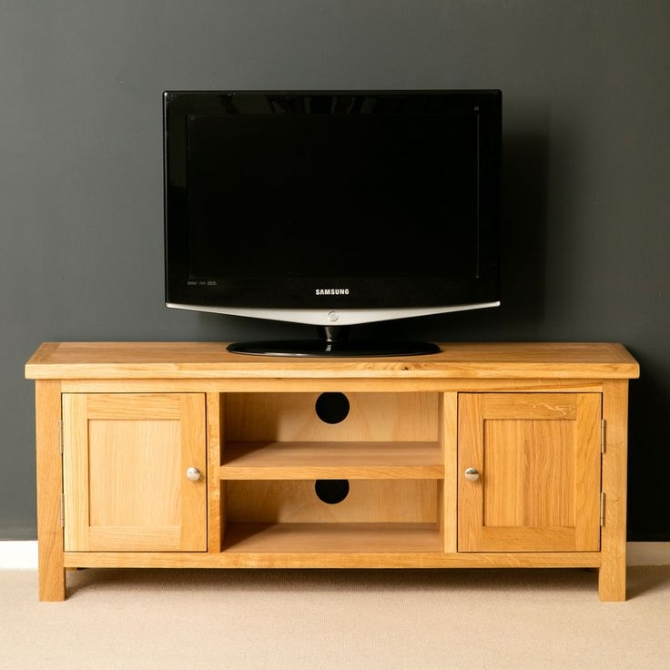 Brilliant Widely Used Large Oak TV Stands Regarding Best 25 Large Tv Unit Ideas On Pinterest Ikea Tv Stand Low Tv (Image 12 of 50)