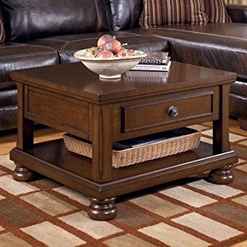 Brilliant Widely Used Lift Top Coffee Tables Inside Amazon Ashley Furniture Signature Design Porter Lift Top (Image 11 of 50)