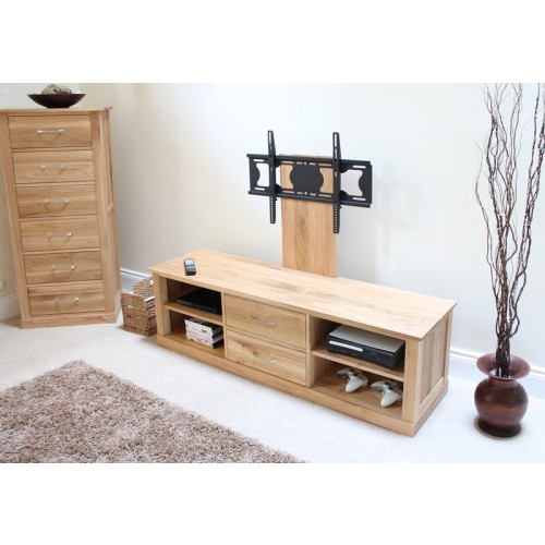 Brilliant Widely Used Oak TV Stands For Flat Screens Within Mobel Oak Flat Screen Tv Stand With Mount (Image 18 of 50)