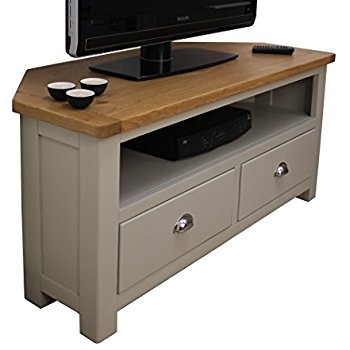 Brilliant Widely Used Painted Corner TV Cabinets Throughout Windermere Sage Grey Painted Corner Tv Dvd Unit Plasma Tv Stand (Image 14 of 50)