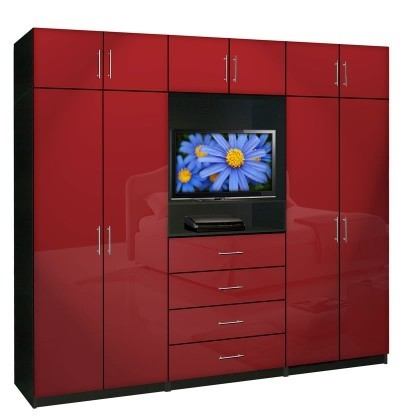 Brilliant Widely Used Red TV Cabinets With Aventa Wardrobe Tv Cabinet X Tall Extra Wardrobe Cabinet Storage (Image 17 of 50)