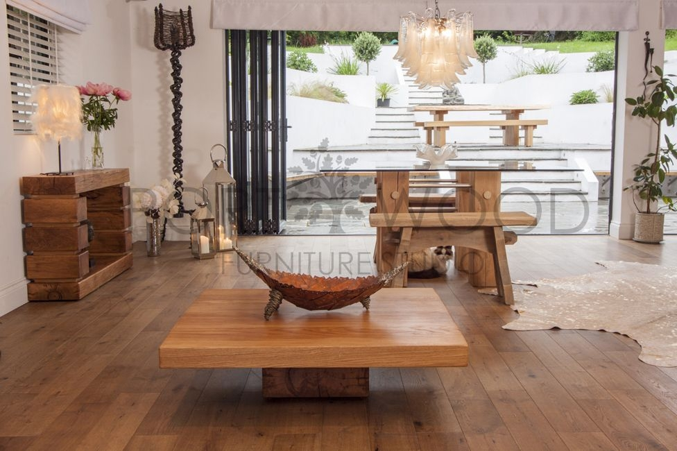 Brilliant Widely Used Square Oak Coffee Tables With Regard To It Low Square Oak Coffee Table (Image 11 of 50)