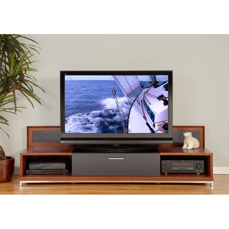 Brilliant Widely Used Walnut TV Stands For Flat Screens Regarding Plateau Valencia Series Backlit Modern Wood Tv Stand For 51  (Image 15 of 50)