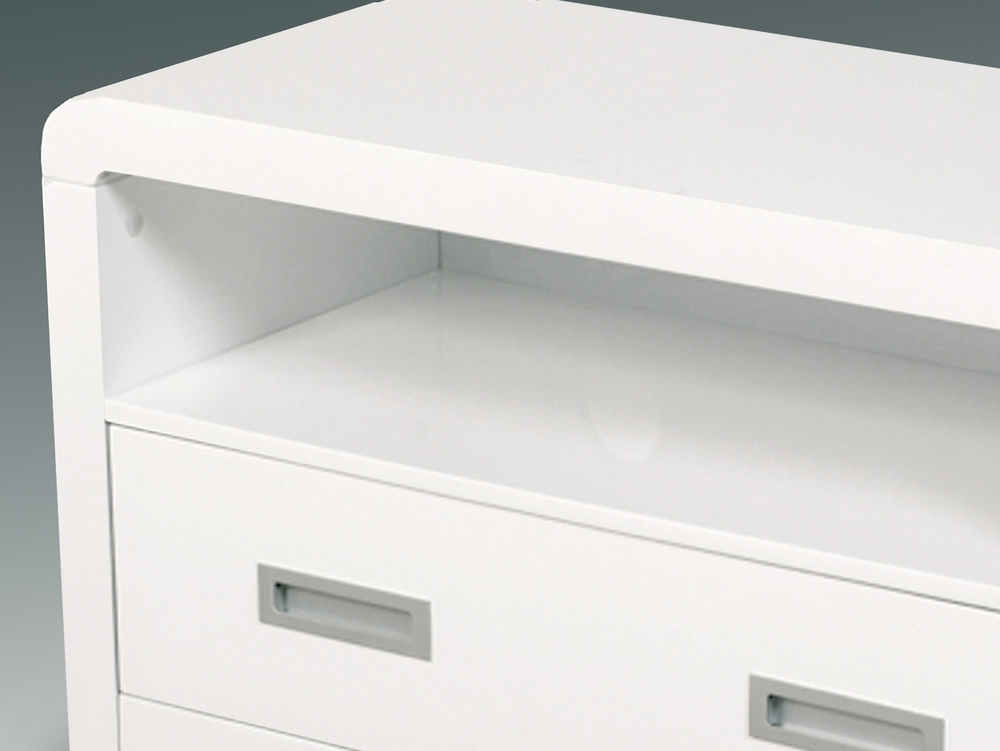 Brilliant Widely Used White Gloss TV Cabinets Inside Flat Packed Atlantis Clarus White Gloss Tv Cabinet (Image 12 of 50)