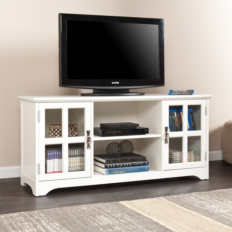 Brilliant Widely Used White TV Stands Inside Tv Stands Youll Love Wayfair (View 6 of 50)