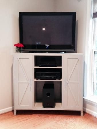 Brilliant Widely Used White Wood Corner TV Stands In Best 25 Corner Media Cabinet Ideas On Pinterest Corner (Image 15 of 50)