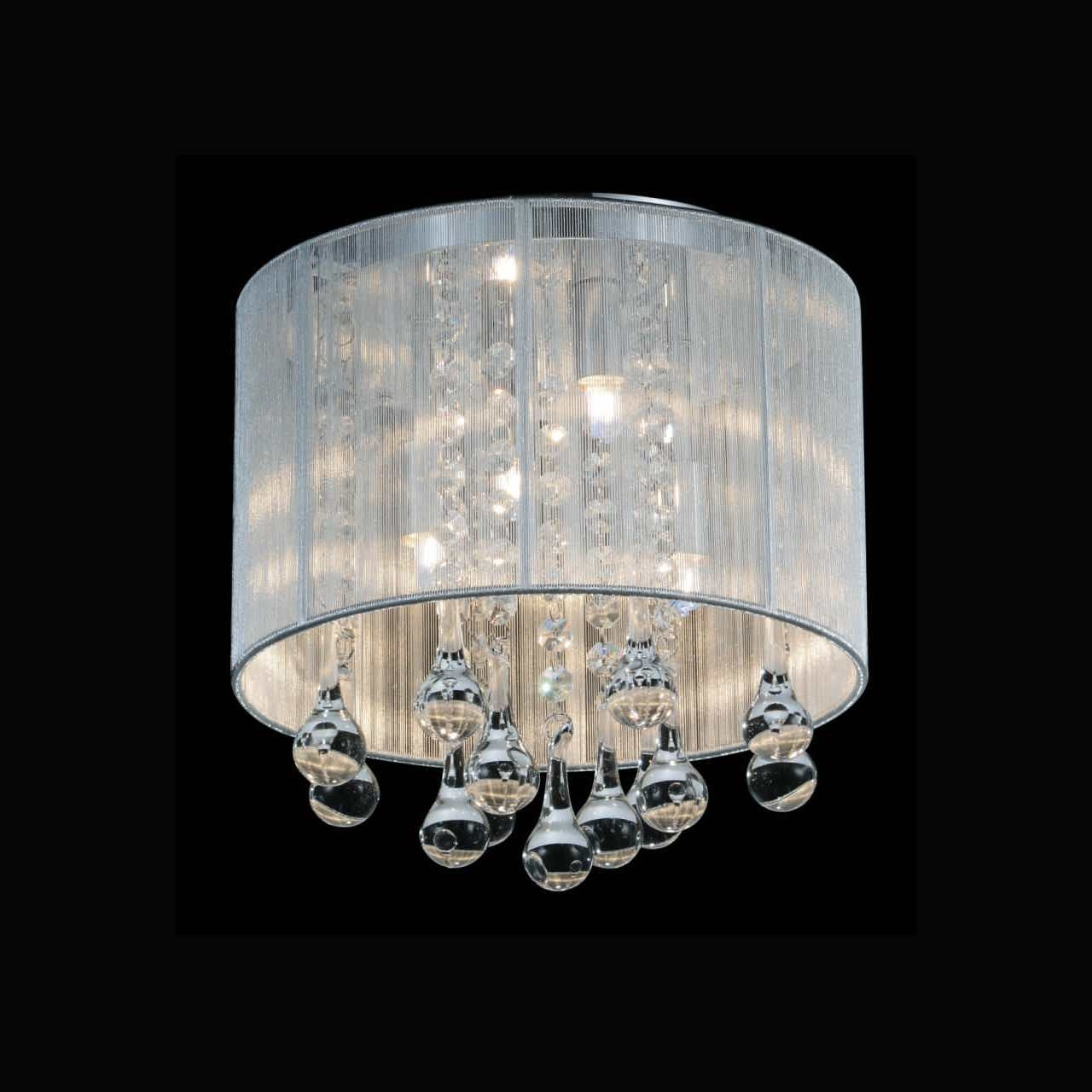 Brizzo Lighting Stores 10 Gocce Modern Crystal Round Flush Mount Regarding 4Light Chrome Crystal Chandeliers (Image 4 of 25)