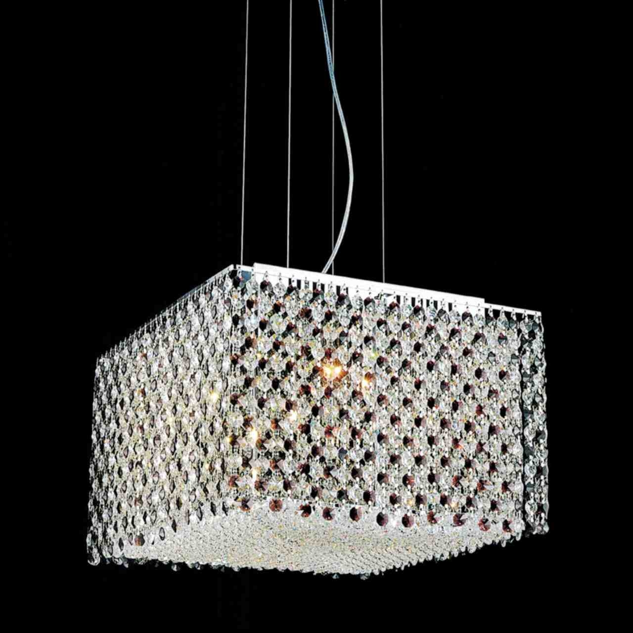 Brizzo Lighting Stores 16 Rainbow Modern Square Crystal Inside Purple Crystal Chandelier Lights (Image 9 of 25)