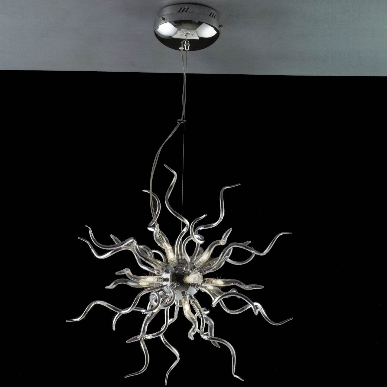 Brizzo Lighting Stores 23 Medusa Modern Round Chandelier Within Chrome And Glass Chandeliers (Image 5 of 25)