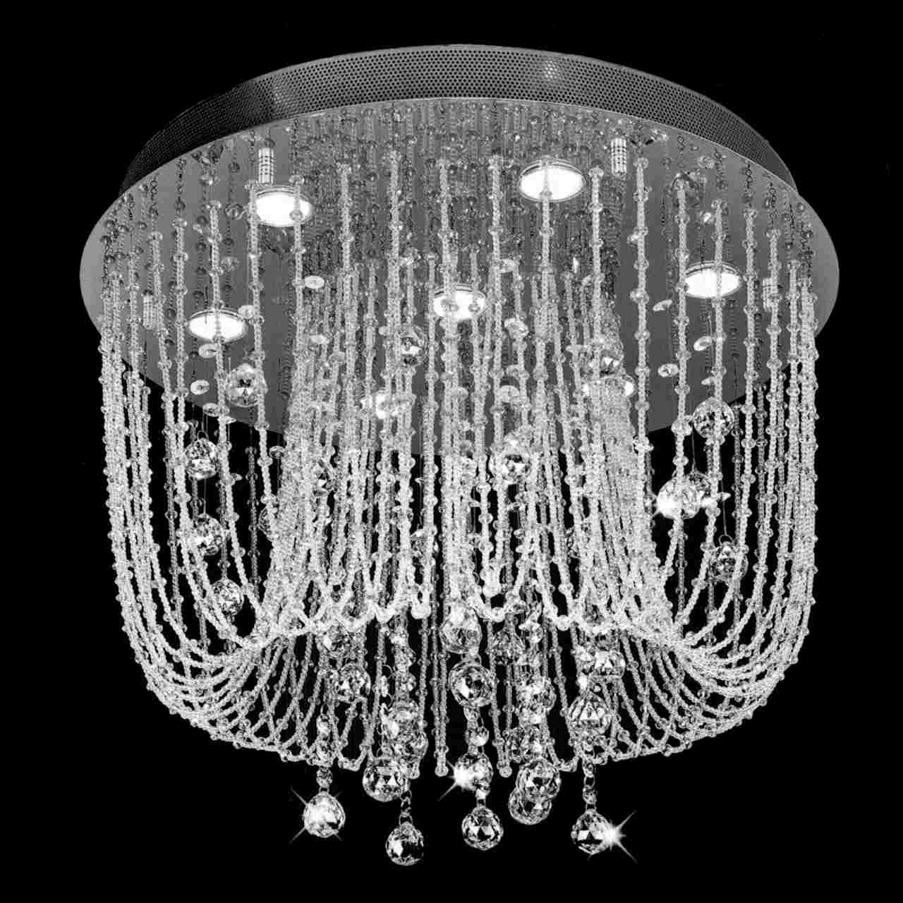 Brizzo Lighting Stores 24 Chateaux Modern Foyer Crystal For Crystal Gold Chandeliers (Image 3 of 25)