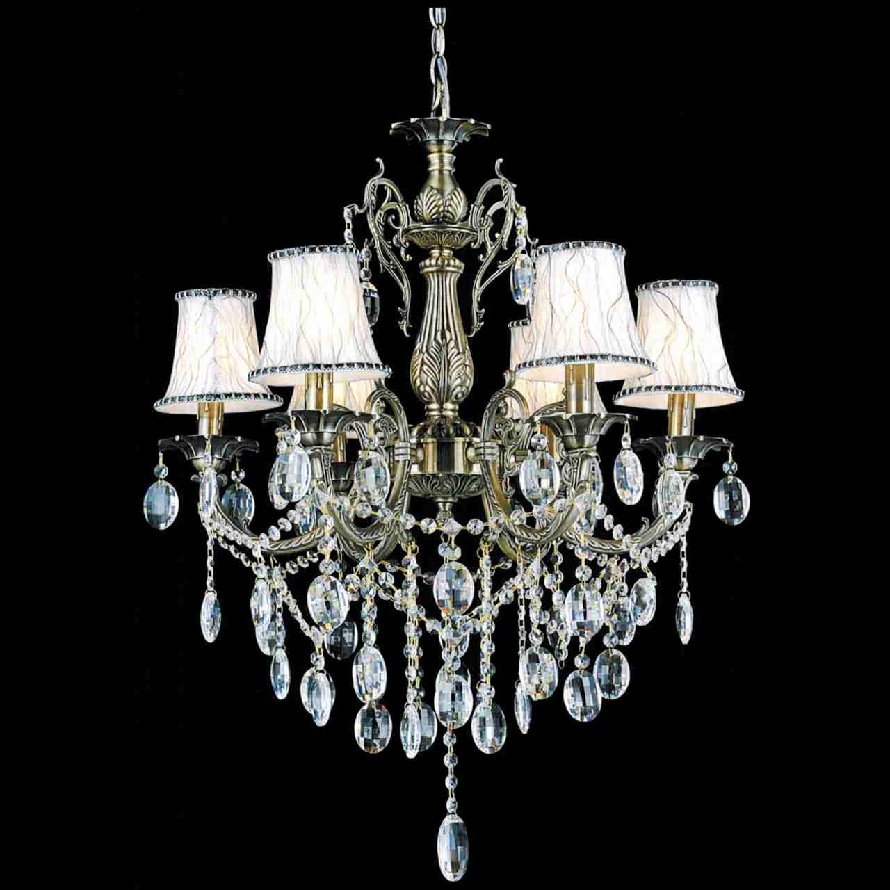 Brizzo Lighting Stores 24 Ottone Traditional Candle Round Within Crystal Chandeliers With Shades (View 4 of 25)