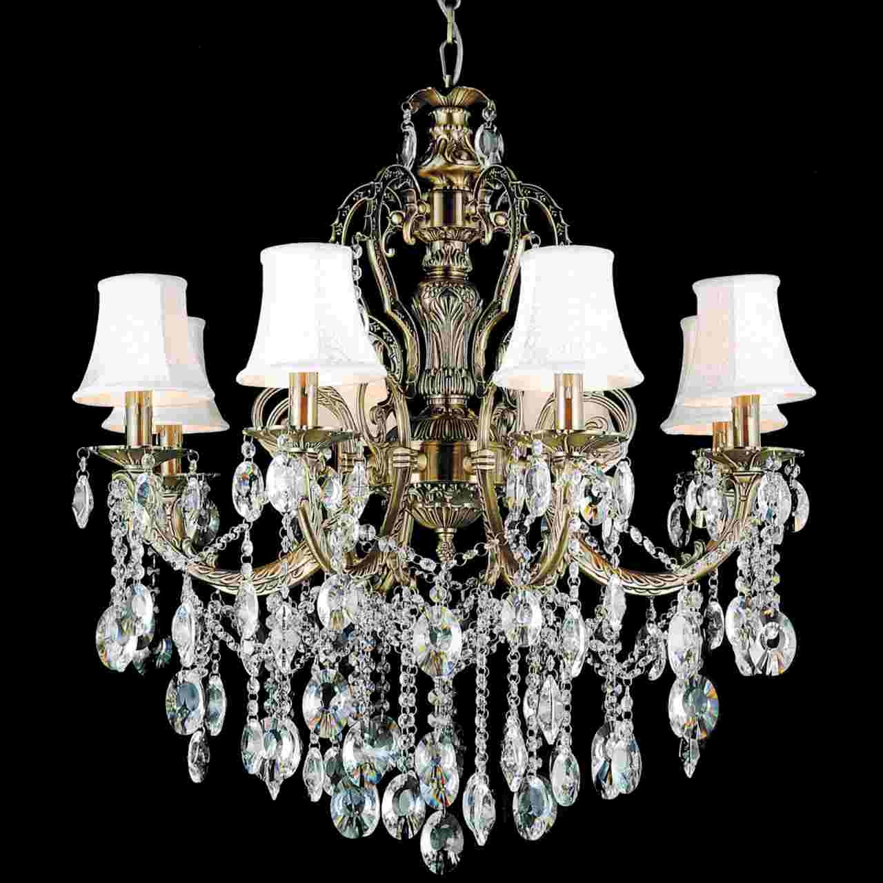 Brizzo Lighting Stores 30 Ottone Traditional Candle Round With Chandelier Lamp Shades (Image 5 of 25)