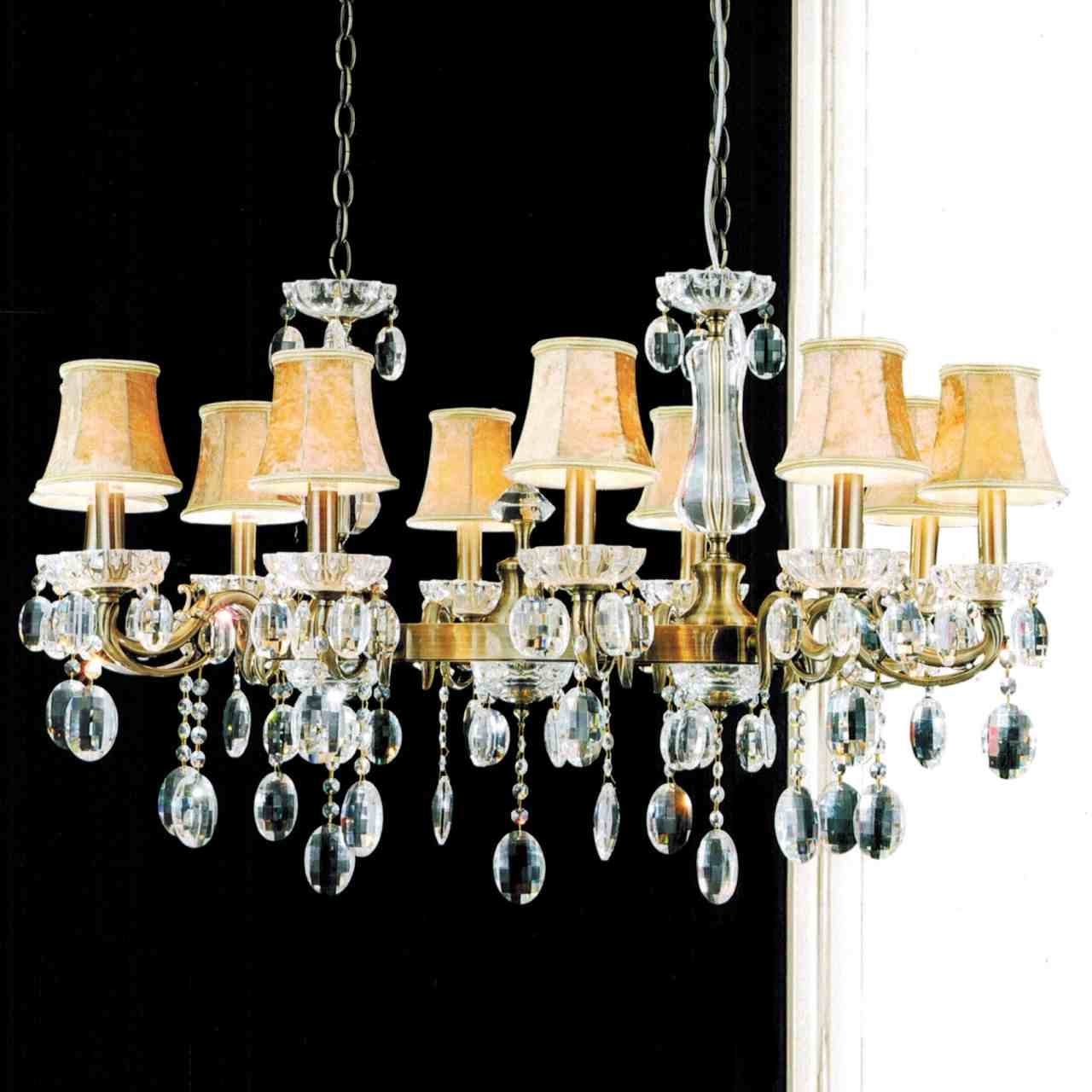 Brizzo Lighting Stores 37 Ottone Traditional Candle Oval Crystal Within Chandelier Lamp Shades (Image 6 of 25)