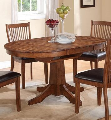 Broadway Round/oval Dining Table In Acacia Brownwinners Only For Acacia Dining Tables (Image 9 of 20)