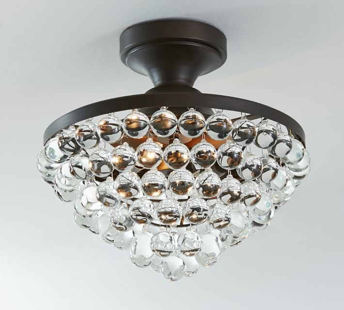 Bronze Crystal Flush Mount Lighting Adeline Crystal Flushmount With Regard To Wall Mount Crystal Chandeliers (View 17 of 25)