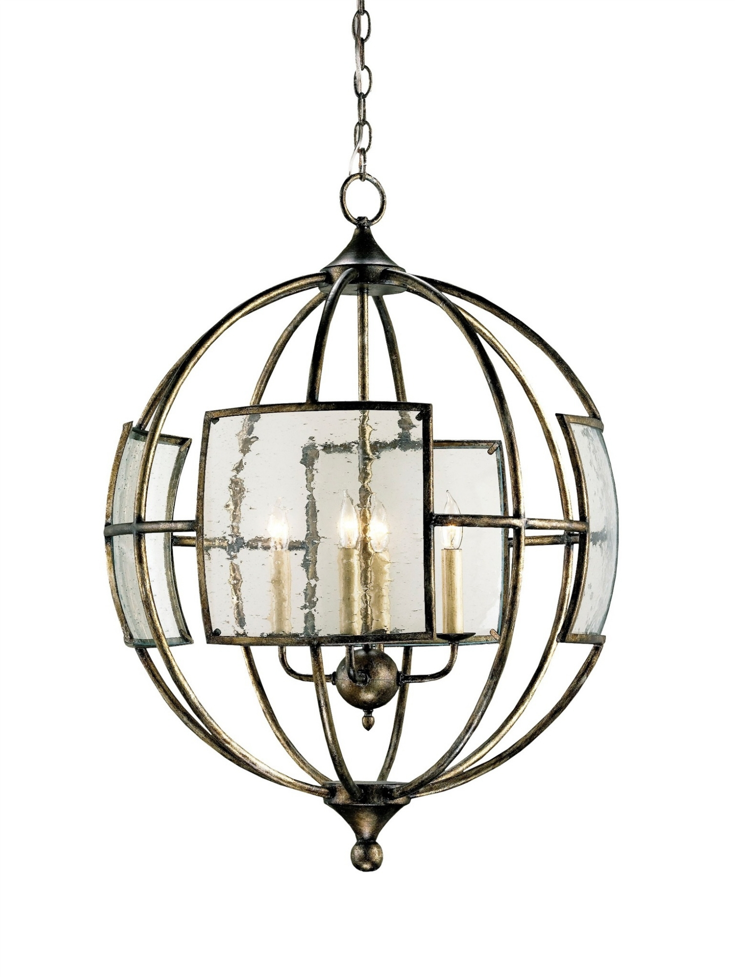 Broxton Orb Chandelier Lighting Currey And Company Intended For Orb Chandeliers (Image 7 of 25)